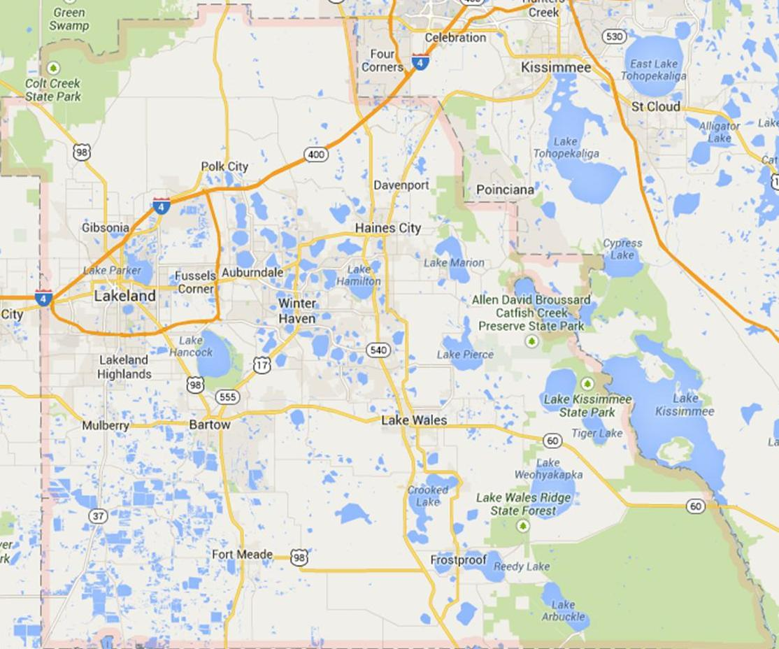 Polk County Florida Map.Market Trends